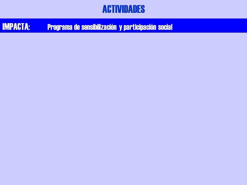 ACTIVIDADES IMPACTA: Programa de sensibilización y participación social