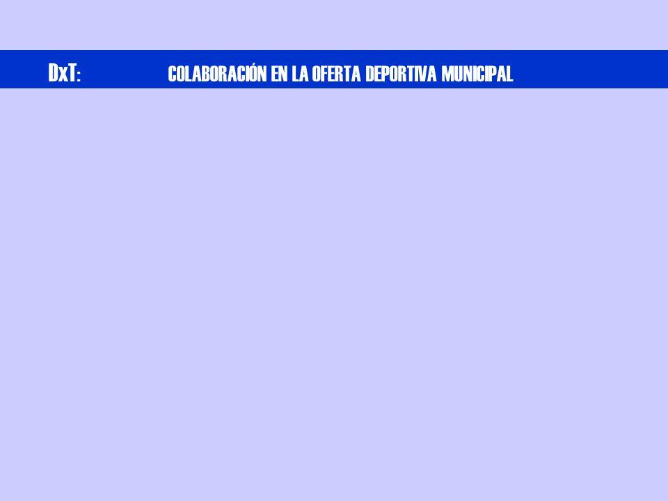 DxT : COLABORACIÓN EN LA OFERTA DEPORTIVA MUNICIPAL