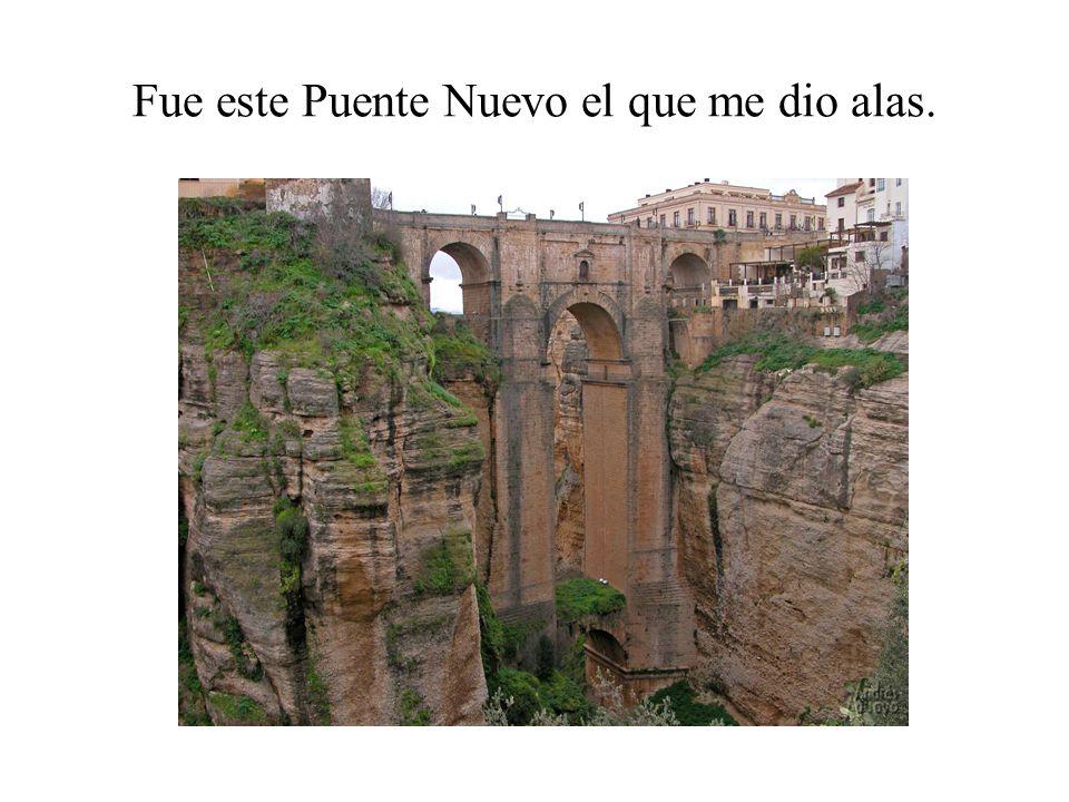 Fue este Puente Nuevo el que me dio alas.