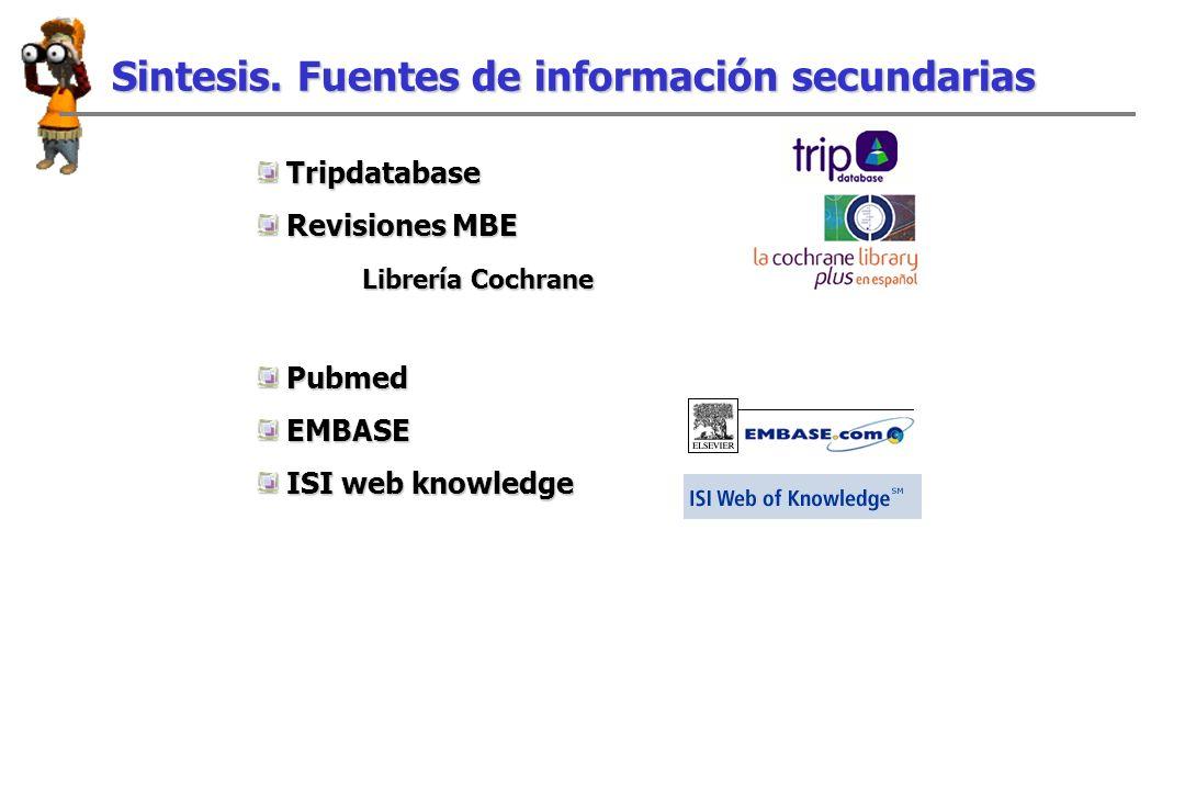 Sintesis. Fuentes de información secundarias Sintesis.