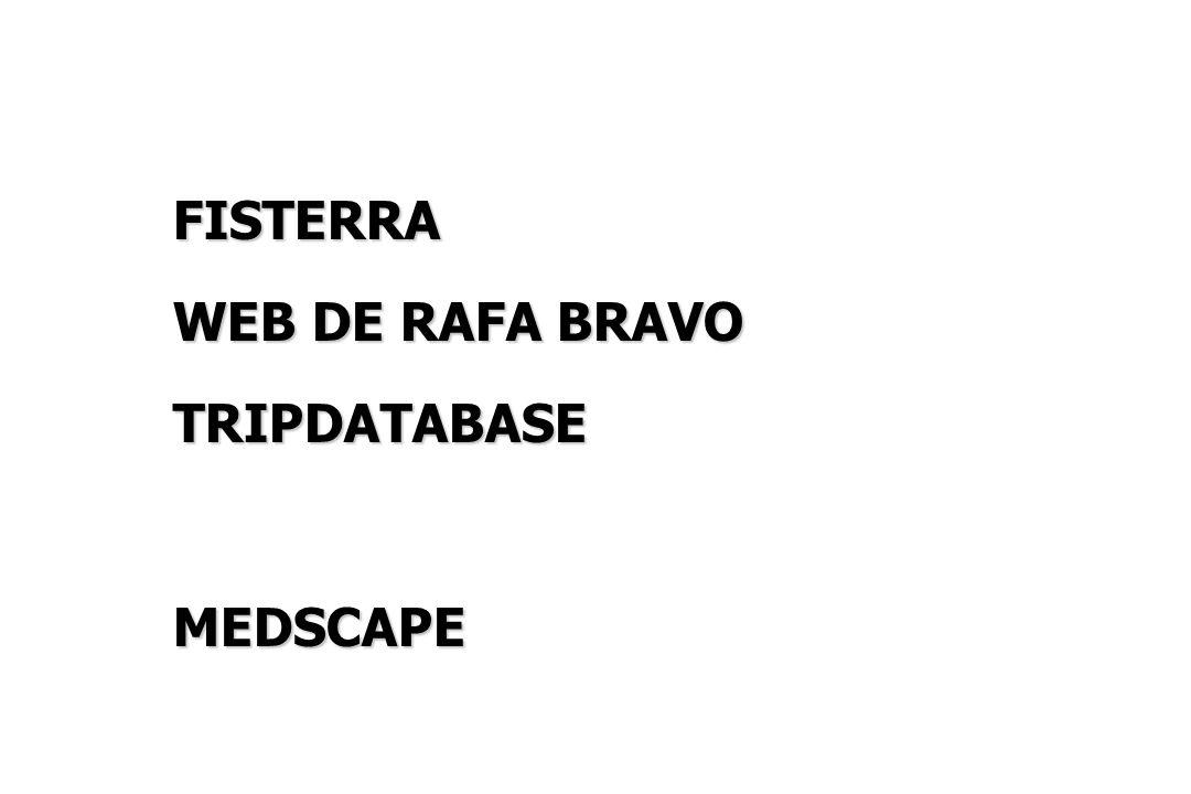 FISTERRA WEB DE RAFA BRAVO TRIPDATABASEMEDSCAPE