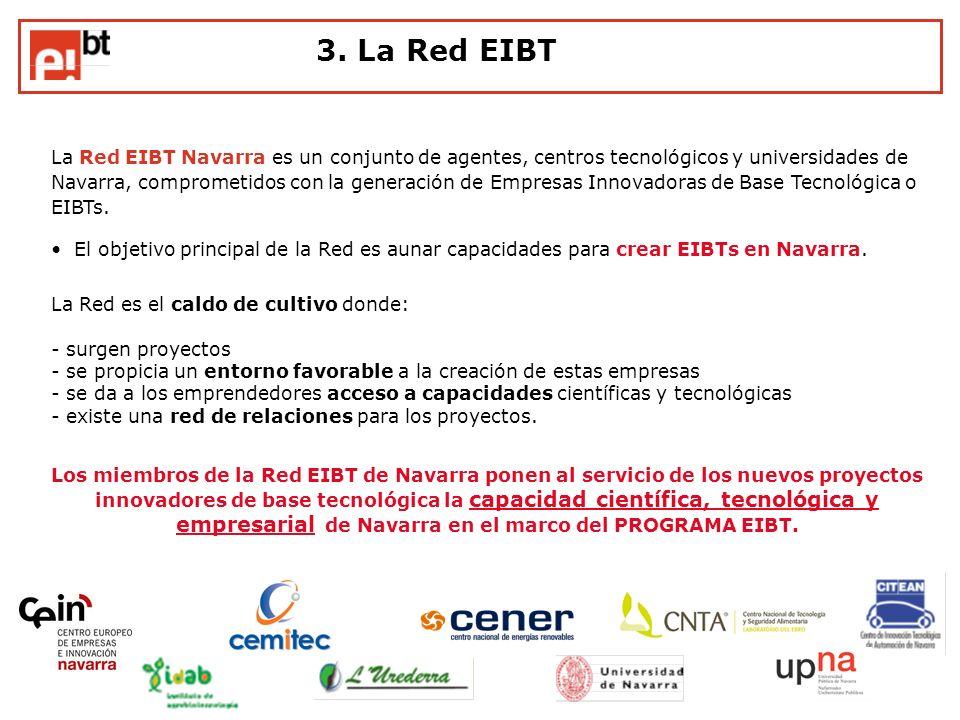 La Red EIBT Navarra es un conjunto de agentes, centros tecnológicos y universidades de Navarra, comprometidos con la generación de Empresas Innovadora