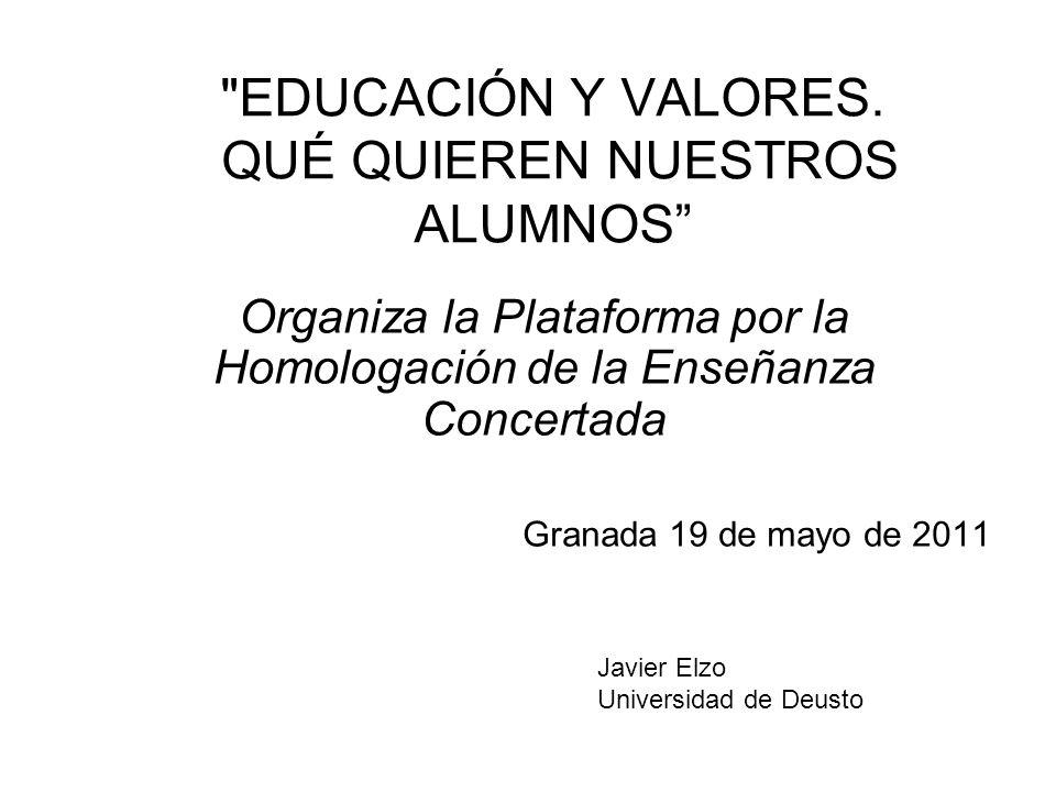 EDUCACIÓN Y VALORES.