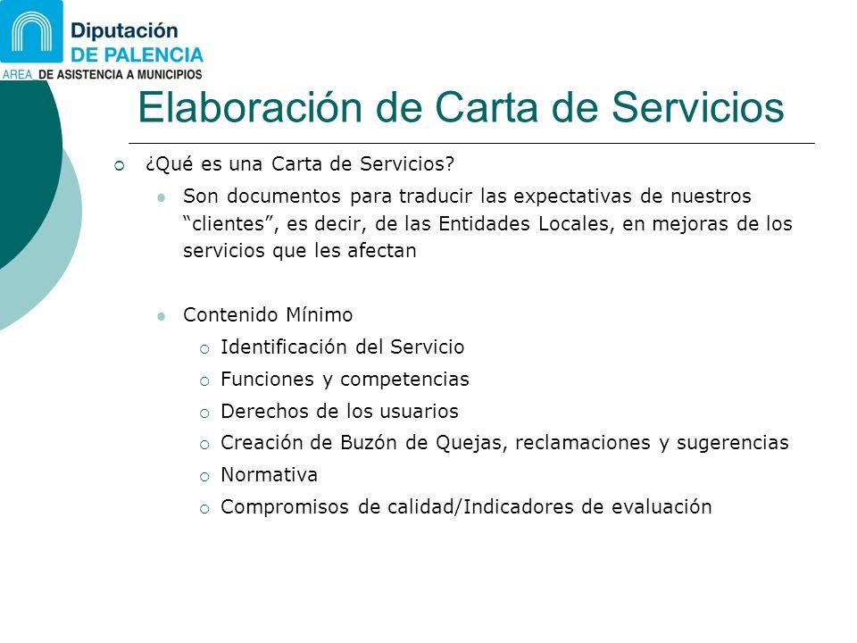 Elaboración de Carta de Servicios ¿Qué es una Carta de Servicios? Son documentos para traducir las expectativas de nuestros clientes, es decir, de las