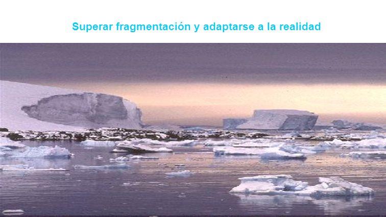 Superar fragmentación y adaptarse a la realidad