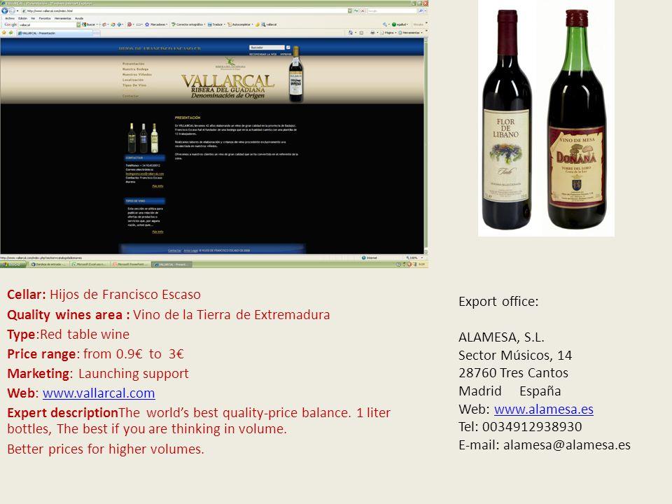 Cellar: MITARTE Quality wines area : D.O.C.