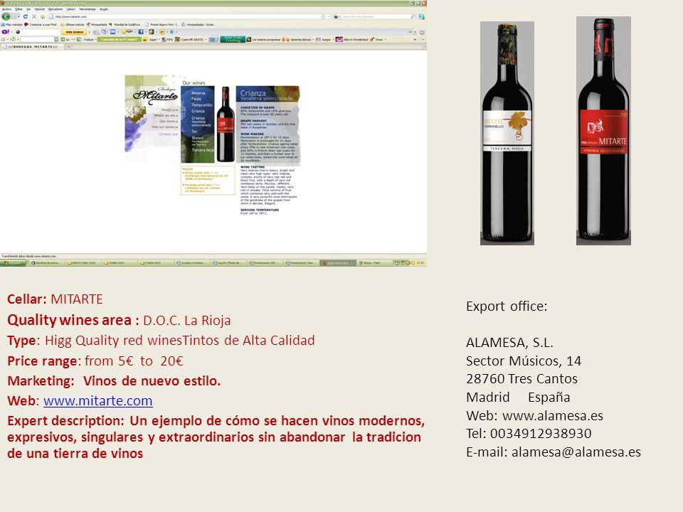 V Cellar: La Bodega de Alboloduy Quality wines area : V.T.