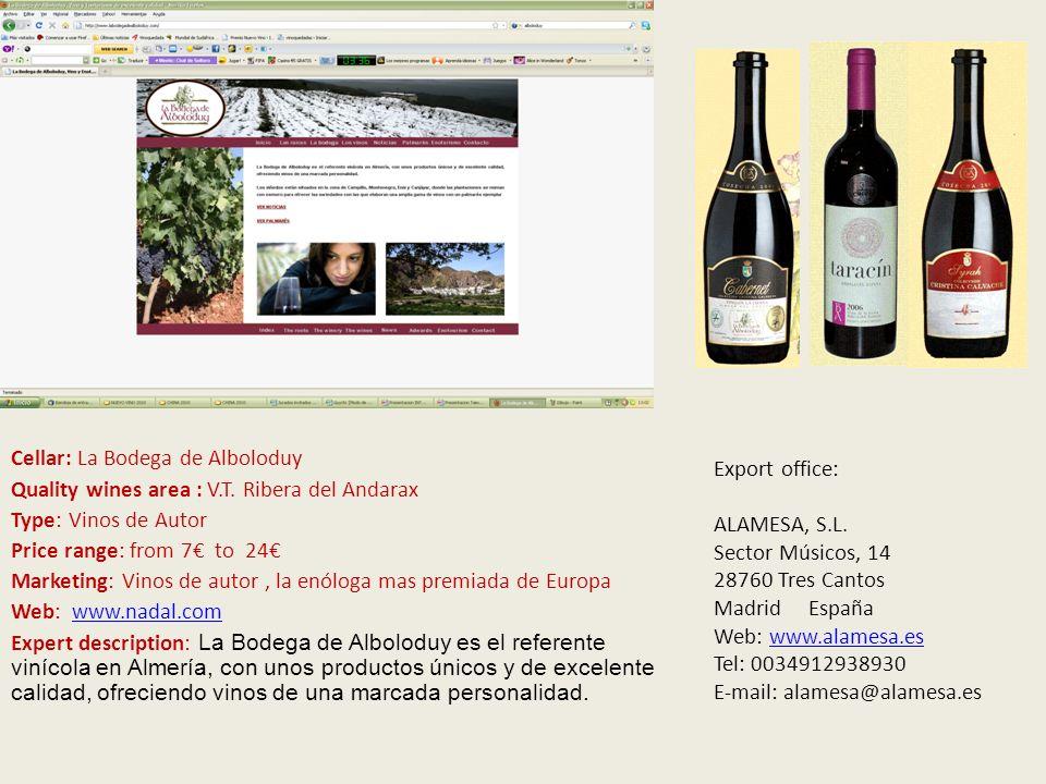 V Cellar: Crianzas y Viñedos Santo Cristo Sociedad Cooperativa Quality wines area: D.O.