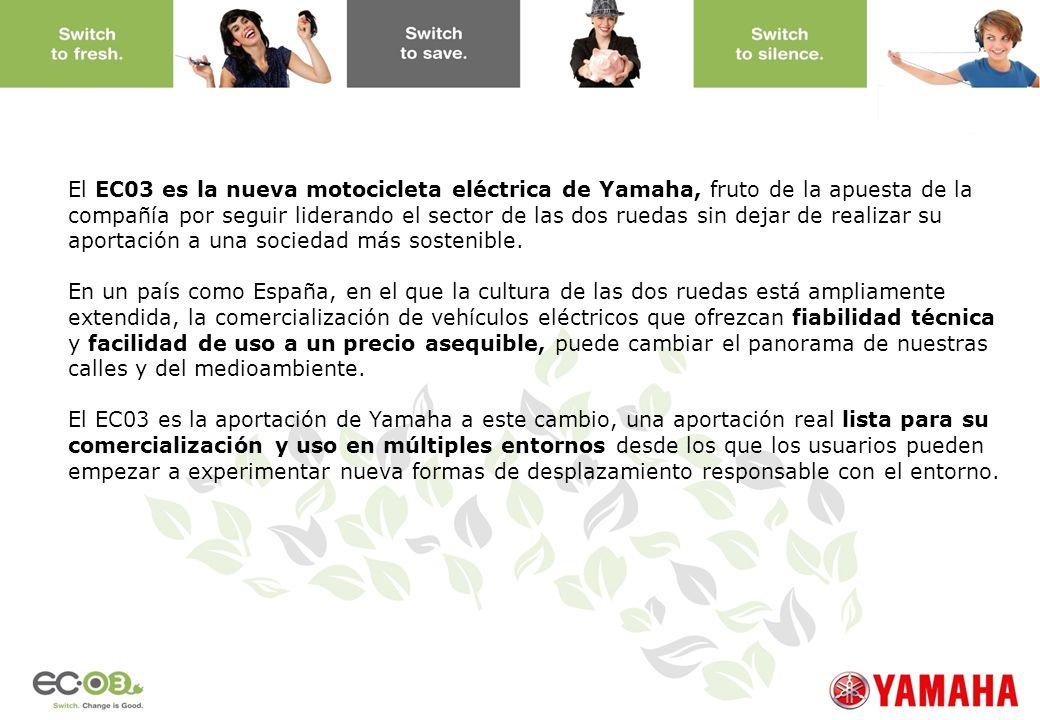 www.yamaha-motor.eu El EC03 es la nueva motocicleta eléctrica de Yamaha, fruto de la apuesta de la compañía por seguir liderando el sector de las dos