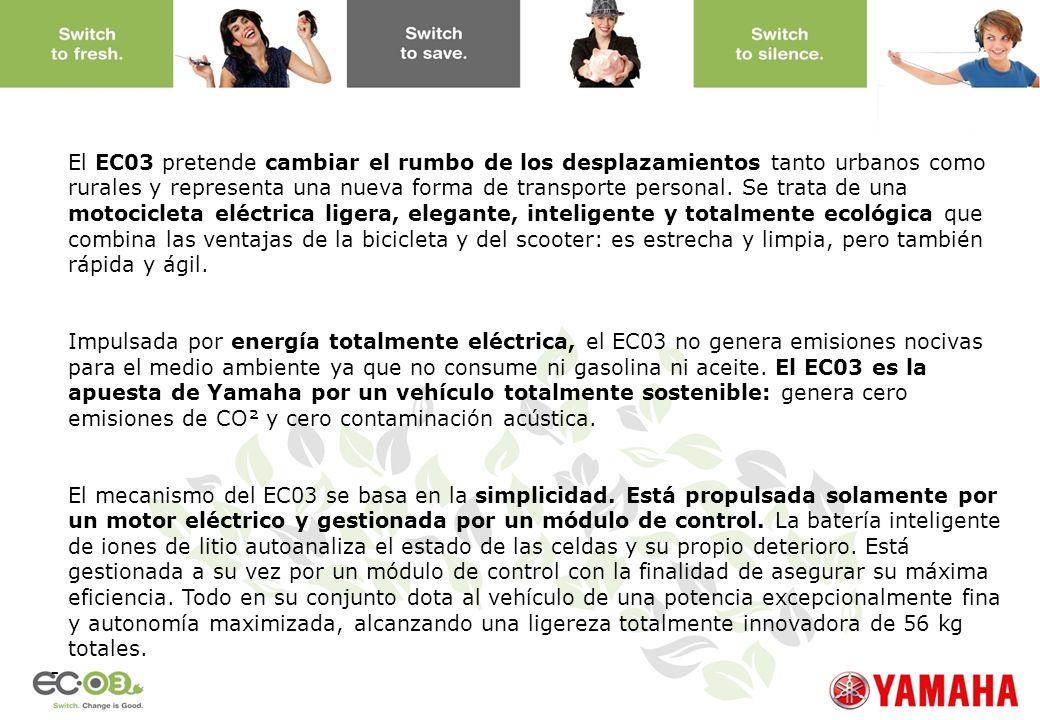 www.yamaha-motor.eu - El EC03 pretende cambiar el rumbo de los desplazamientos tanto urbanos como rurales y representa una nueva forma de transporte p