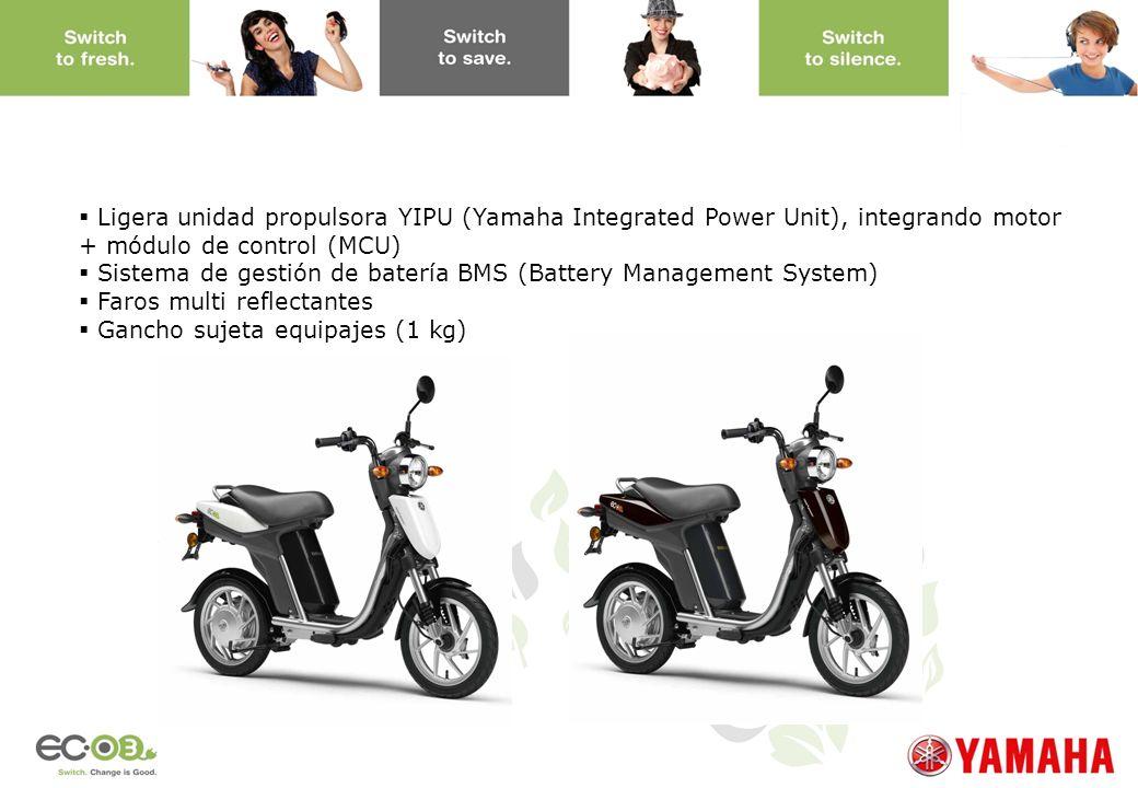 www.yamaha-motor.eu Ligera unidad propulsora YIPU (Yamaha Integrated Power Unit), integrando motor + módulo de control (MCU) Sistema de gestión de bat