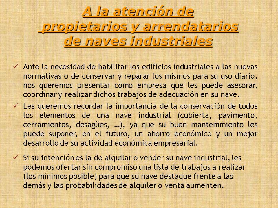 RELACIÓN DE SERVICIOS Construcción de naves industriales.
