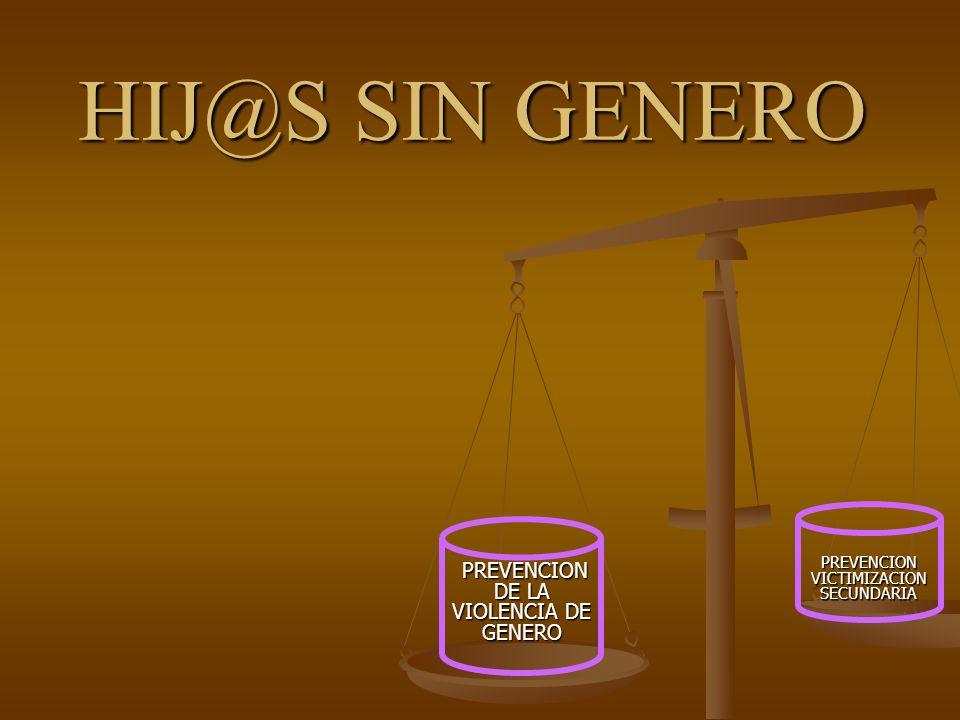 PREVENCION DE LA VIOLENCIA DE GENERO PREVENCION DE LA VIOLENCIA DE GENERO PREVENCION VICTIMIZACION SECUNDARIA