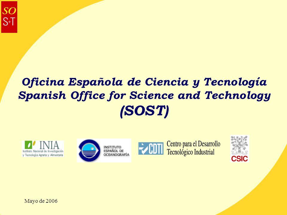 Mayo de 2006 Oficina Española de Ciencia y Tecnología Spanish Office for Science and Technology (SOST)