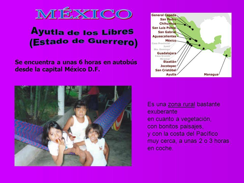 Se encuentra a unas 6 horas en autobús desde la capital México D.F.