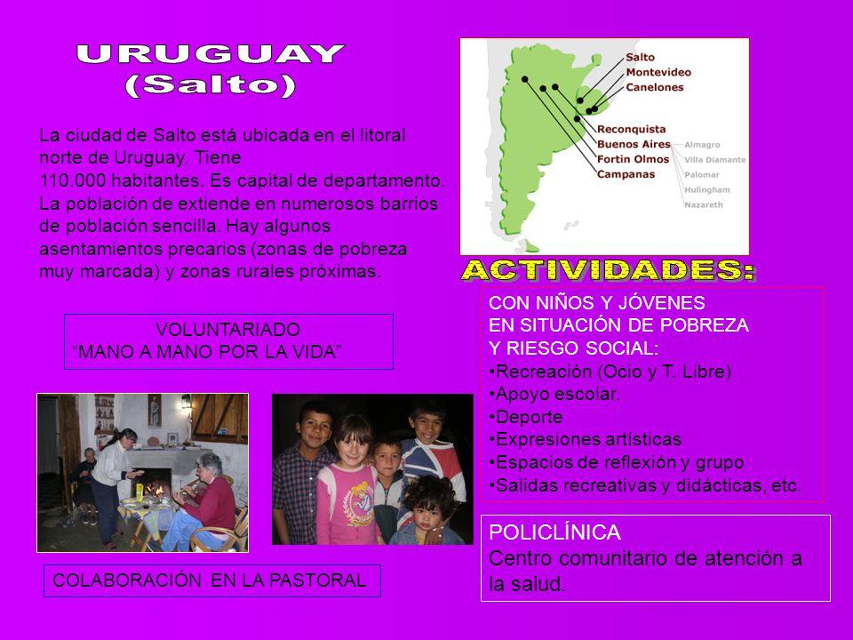 La ciudad de Salto está ubicada en el litoral norte de Uruguay.