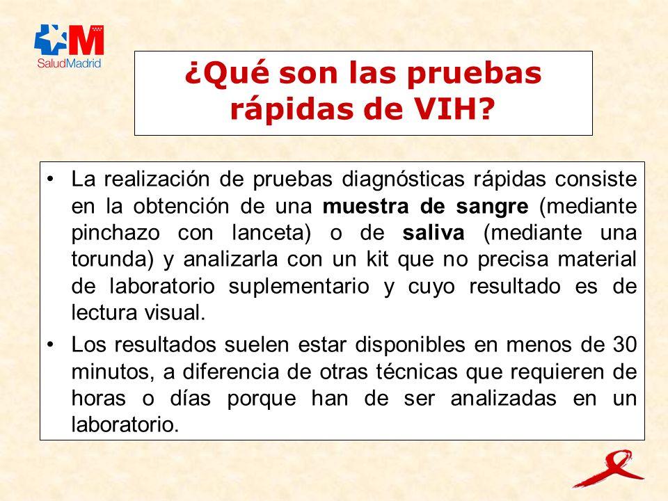 ¿Qué son las pruebas rápidas de VIH.