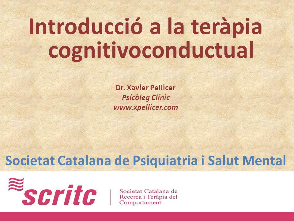 Introducció a la teràpia cognitivoconductual Dr.