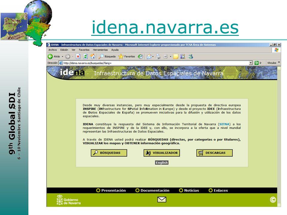 < 9 th Global SDI 6 – 10 Noviembre Santiago de Chile idena.navarra.es