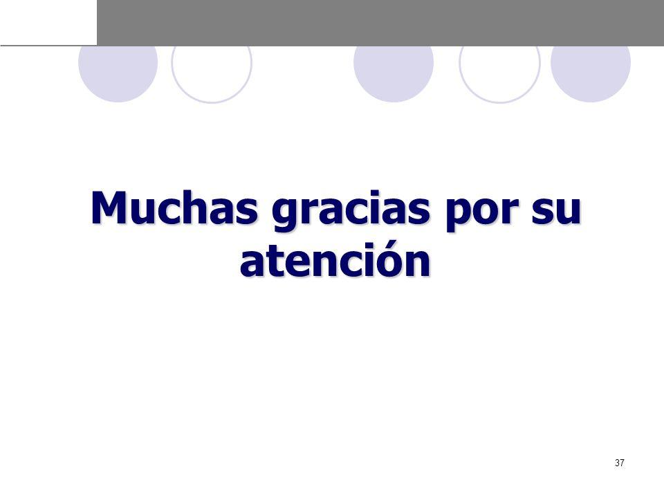 Muchas gracias por su atención 37