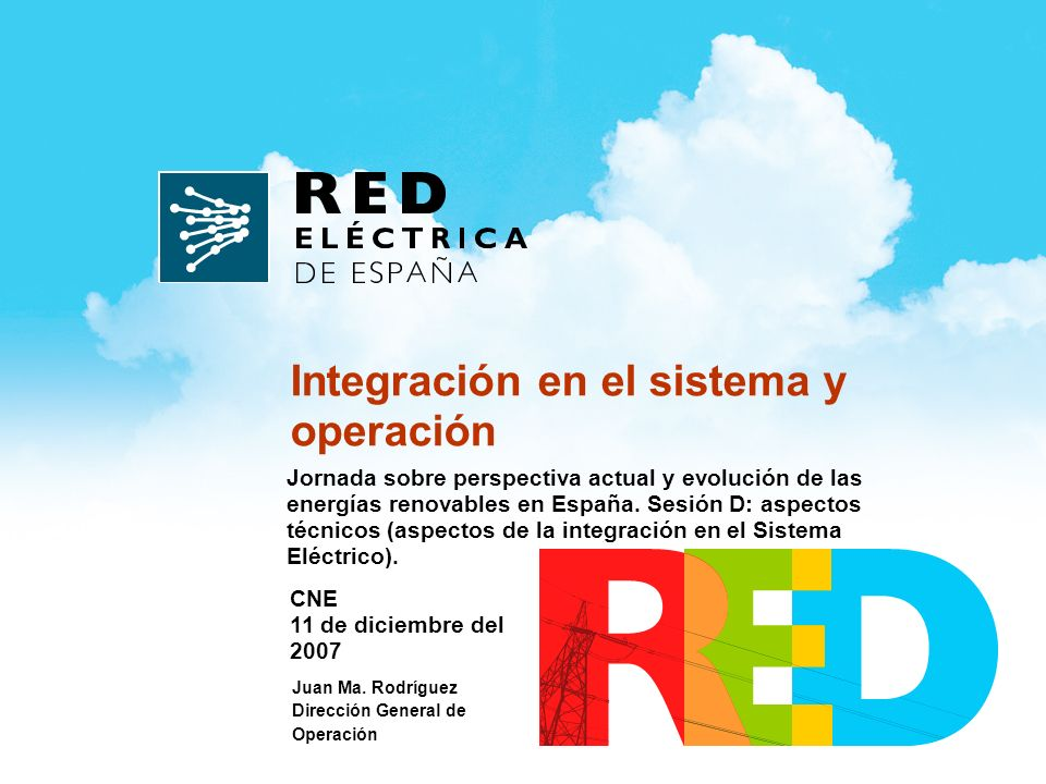 Jornada sobre perspectiva actual y evolución de las energías renovables en España.