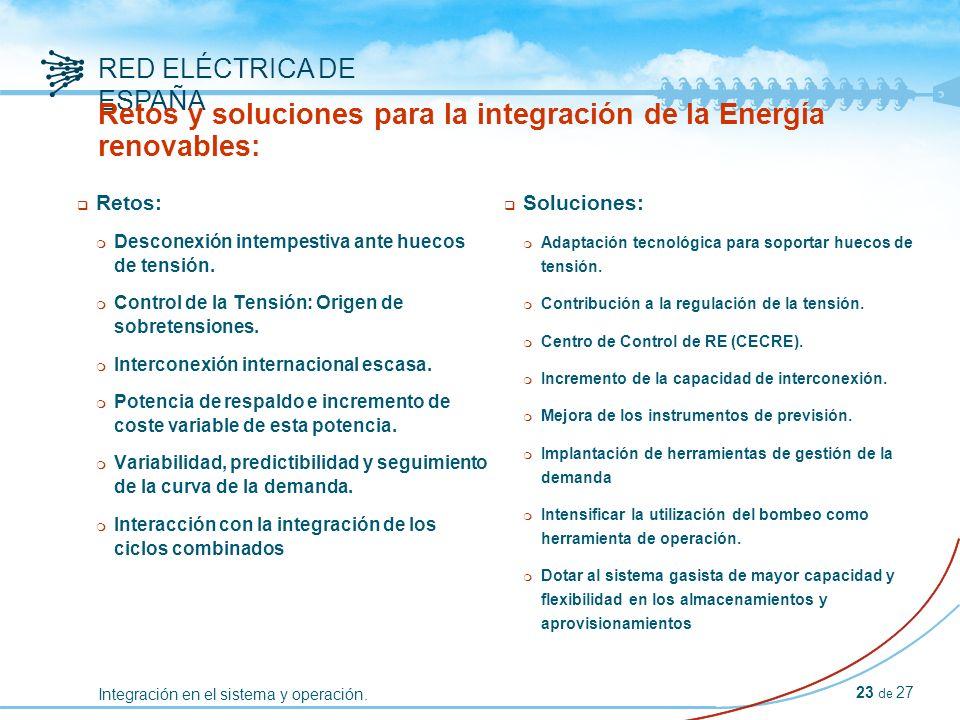 Integración en el sistema y operación.