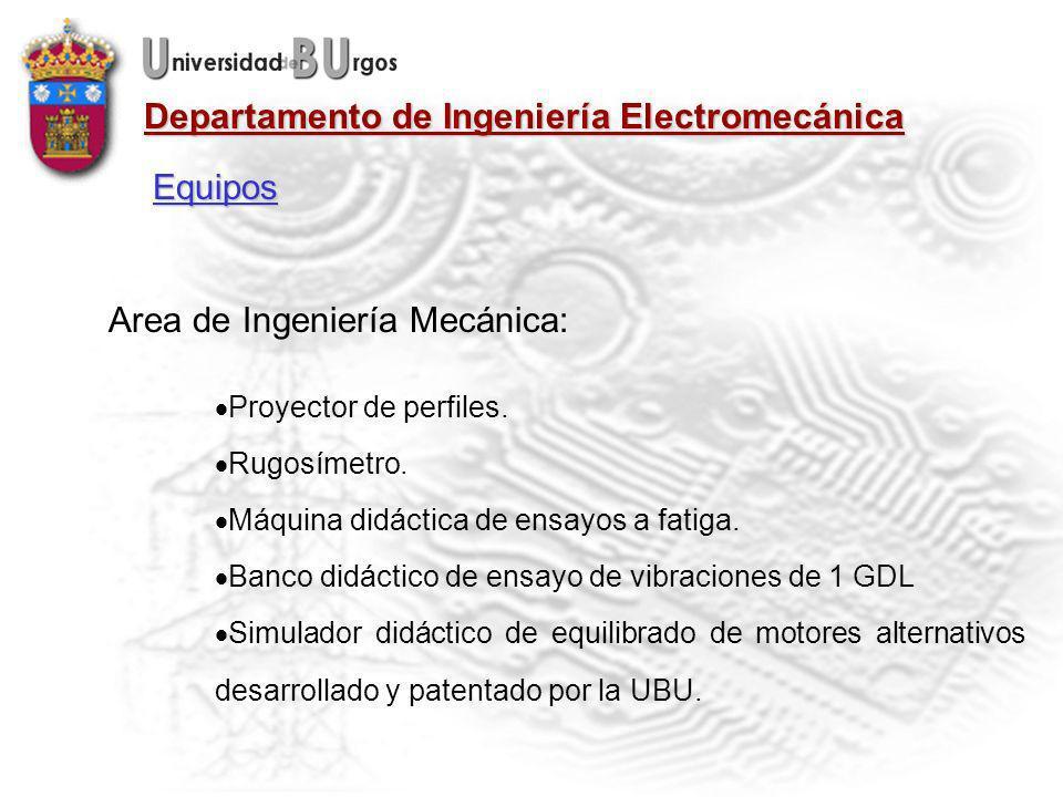 Departamento de Ingeniería Electromecánica Area de Ingeniería Mecánica: Proyector de perfiles.