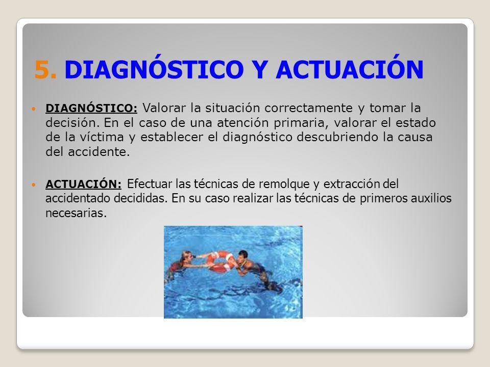 5. DIAGNÓSTICO Y ACTUACIÓN DIAGNÓSTICO: Valorar la situación correctamente y tomar la decisión. En el caso de una atención primaria, valorar el estado