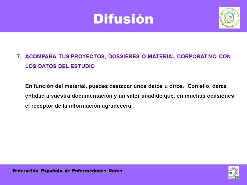Federación Española de Enfermedades Raras Difusión 7.