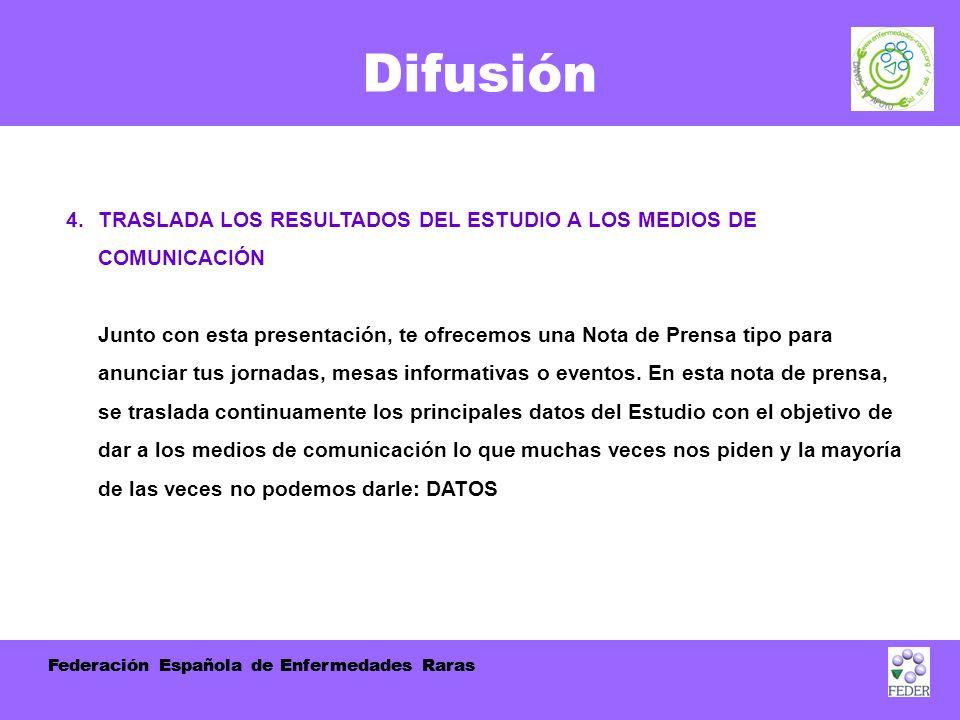 Federación Española de Enfermedades Raras Difusión 4.