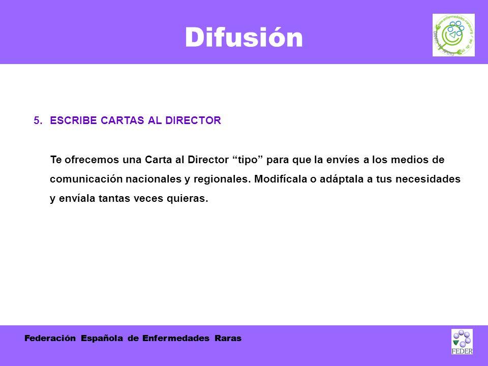Federación Española de Enfermedades Raras Difusión 5.