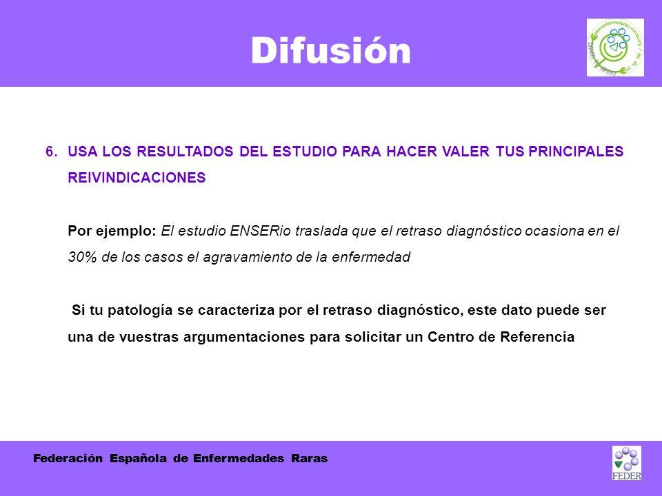 Federación Española de Enfermedades Raras Difusión 6.