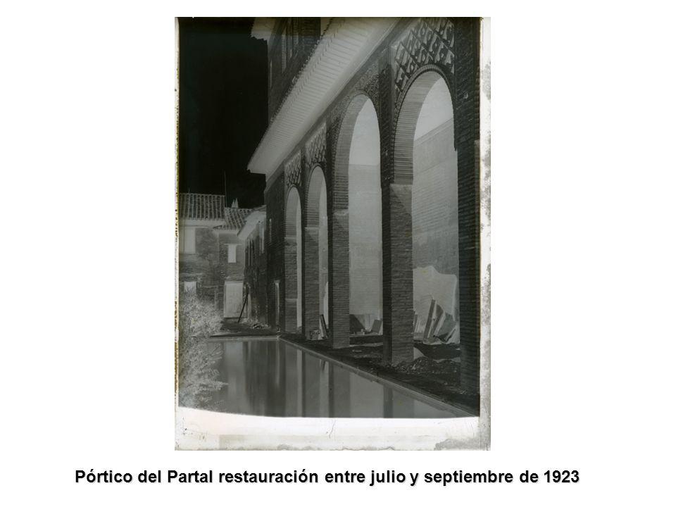 Pórtico del Partal restauración entre julio y septiembre de 1923