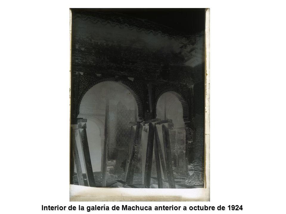 Interior de la galería de Machuca anterior a octubre de 1924