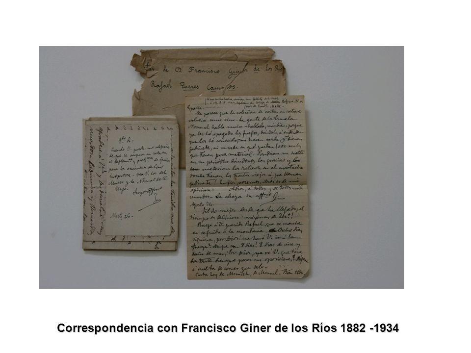 Correspondencia con Francisco Giner de los Ríos 1882 -1934