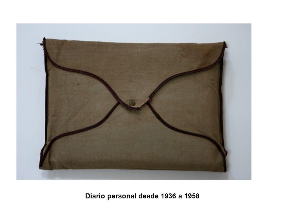 Diario personal desde 1936 a 1958