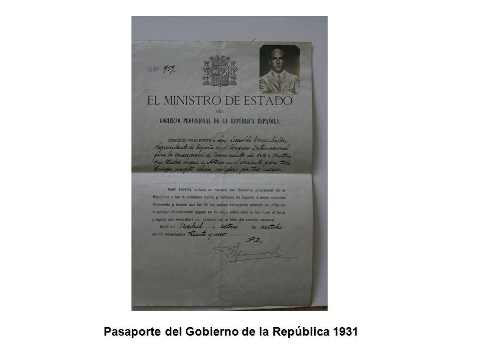 Pasaporte del Gobierno de la República 1931