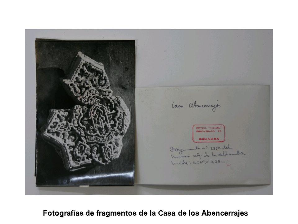 Fotografías de fragmentos de la Casa de los Abencerrajes