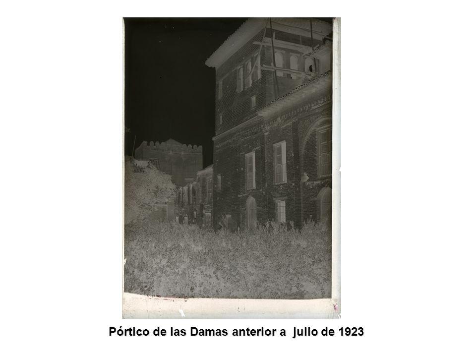 Los jardines del Partal anterior a octubre de 1923