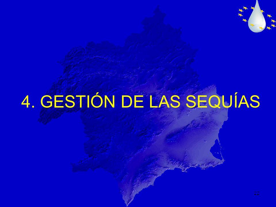 22 4. GESTIÓN DE LAS SEQUÍAS