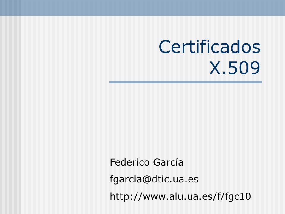 CERTIFICADOS El Certificado Digital es un documento firmado por una Autoridad Certificadora (AC).