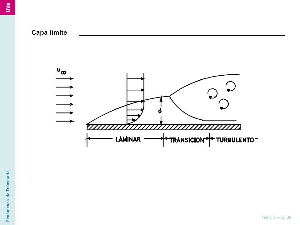 Fenómenos de Transporte Tema 2 p. 38 Capa límite