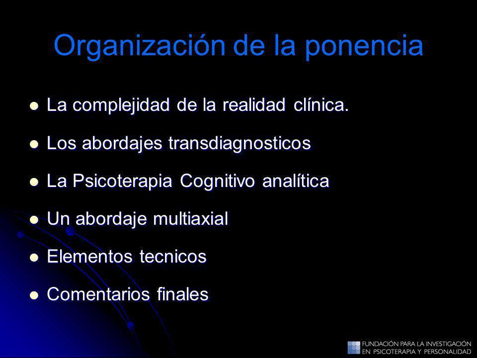 La complejidad de la realidad clínica. La complejidad de la realidad clínica. Los abordajes transdiagnosticos Los abordajes transdiagnosticos La Psico