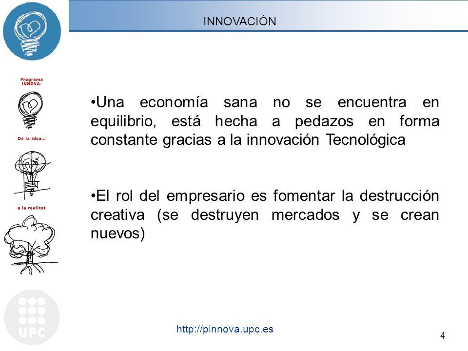 4 http://pinnova.upc.es Barcelona, mes 200X - Títol- http://pinnova.upc.es Una economía sana no se encuentra en equilibrio, está hecha a pedazos en fo