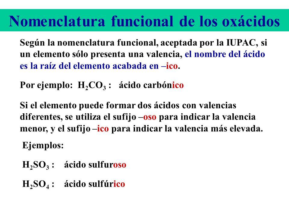 Para formular, por ejemplo, el ácido carbónico procedemos como sigue: Escribimos los símbolos de los elementos en el siguiente orden. H C O A continua
