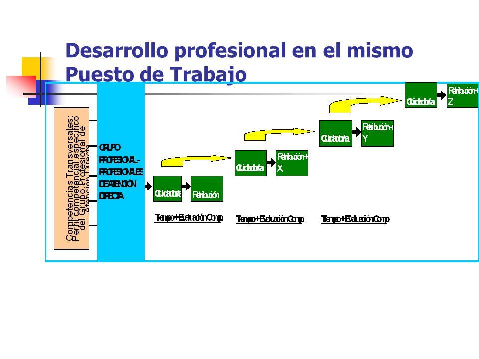 Desarrollo profesional en el mismo Puesto de Trabajo