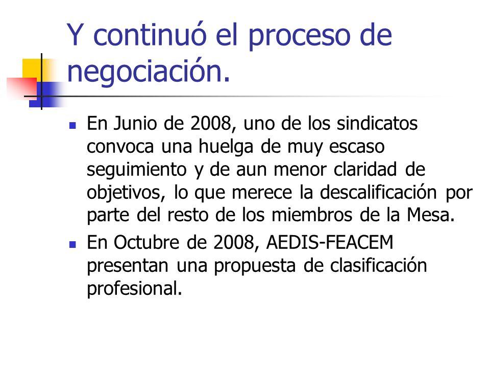Y continuó el proceso de negociación.