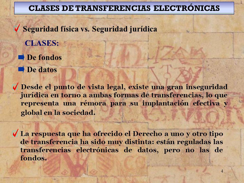 15 CLASES DE FIRMA ELECTRÓNICA Y EFECTOS JURÍDICOS Efectos Jurídicos El soporte en que se hallen los datos firmados electrónicamente será admisible como prueba en juicio.