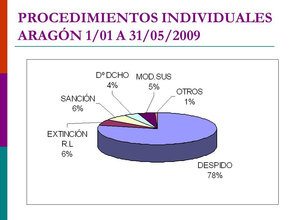 PROCEDIMIENTOS INDIVIDUALES ARAGÓN 1/01 A 31/05/2009