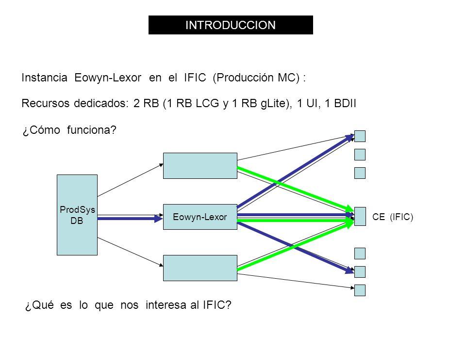 Instancia Eowyn-Lexor en el IFIC (Producción MC) : ¿Cómo funciona.
